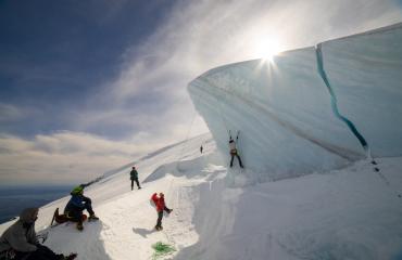 Escalada en hielo top rope